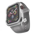 HOCO-WB09GRIS4244 - Bracelet gris + coque pour Apple Watch antichoc transparente 42/44mm