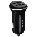 HOCO-Z1NOIR - Chargeur voiture 11W deux prises USB de Hoco coloris noir