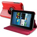 HROTATEP3100-ROUGE - Etui aspect cuir rouge sur support rotatif pour Samsung Galaxy Tab 2 7-0 P3100