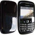 HSOFTYGLOSNO-8520 - Housse Softygel noire glossy Blackberry 8520
