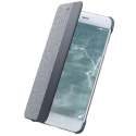 HUAWEI-TISSUP10GRIS - Etui origine Huawei P10 folio tissu avec fenêtre visualisation
