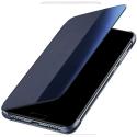 HUAWEI-VIEWP20PROBLEU - Huawei P20 Pro Etui latéral SmartView avec fenêtre coloris bleu