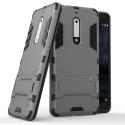 HYBRID-NOKIA5GRIS - Coque hybride Nokia-5 noire et grise antichoc