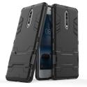 HYBRID-NOKIA8NOIR - Coque hybride Nokia-8 noire antichoc