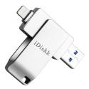 IDISKK-IDKMIN364V2 - Clé stockage mémoire iDiskk 64 Go iPhone iOS et ordinateurs USB