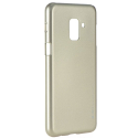 IJELLY-A82018GOLD - Coque souple Galaxy A8-2018 en gel TPU gold iJelly de Goospery