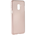 IJELLY-A82018ROSE - Coque souple Galaxy A8-2018 en gel TPU rose doré iJelly de Goospery