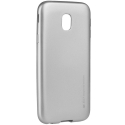 IJELLY-J32017SILVER - Coque souple Galaxy J3-2017 en gel TPU gris iJelly de Goospery