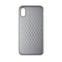 INCASE-INPH190378-SL - Coque Incase iPhone X série Facet coloris gris clair avec relief