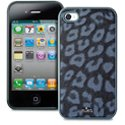 PURO_IPC4LEOSBLK - Coque Puro collection Leopard Noire fourrure synthetique