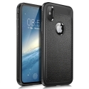 IVSOCASE-IPXNOIR - Coque iPhone X robuste noire aspect cuir