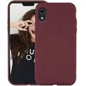 JAYM-SOFTIPXVIOLET - Coque souple iPhone Xs enveloppante texture matte coloris violet