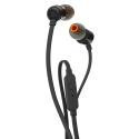 JBL-T110NOIR - Casque intra-auriculaire JBL T110 coloris noir fiche jack 3,5 mm