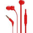 JBL-T110ROUGE - Casque intra-auriculaire JBL T110 coloris rouge fiche jack 3,5 mm