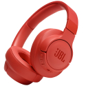 JBL-T750BTNCROUGE - Casque bluetooth JBL Tune 750BTNC rouge corail à suppression de bruit ambiant