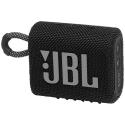 JBLGO3BLK - Enceinte bluetooth JBL Go-3 coloris noir touches roses étanche 5 heures de musique