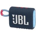 JBLGO3BLUP - Enceinte bluetooth JBL Go-3 coloris bleu touches roses étanche 5 heures de musique