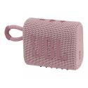 JBLGO3PINK - Enceinte bluetooth JBL Go-3 coloris rose touches roses étanche 5 heures de musique