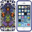 PURO_JCIPC5LEOFL1 - Coque Puro collection Justcavalli Leopard Flower Violet pour iPhone 5s