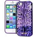 PURO_JCIPC5LEOVIOLET - Coque Puro collection Justcavalli Leopard Violet pour iPhone SE et 5s