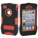 KKN-IPH4-R - Coque Trident Kraken rouge pour iPhone 4