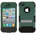 KKN2-IPH4-BG - Coque Trident Kraken II verte pour iPhone 4 avec clip ceinture