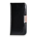 KLD-ROYALE2IPX - Etui iPhone X en superbe cuir noir série Royale-2 de Kalaideng