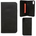 KNOMO-FOLIOIPXNOIR - Etui iPhone X Knomo Premium cuir noir
