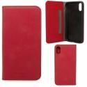 KNOMO-FOLIOIPXROUGE - Etui iPhone X Knomo Premium cuir rouge