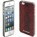 KUBXLABSNAKEROUGE - Coque Kubxlab effet peau de serpent rouge iPhone 5