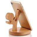 KUNGFU-HOLDER - Support smartphone et tablette de bureau Kung-Fu en bois