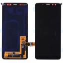 LCD-A82018 - Ecran complet origine Samsung Galaxy A8-2018 coloris noir GH97-21406A