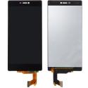 LCD-P8NOIR - Ecran LCD et vitre tactile Huawei P8 coloris noir pour réparation écran