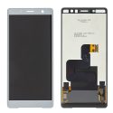 LCD-XZ2COMPGRIS - Ecran complet vitre tactile + LCD Xperia XZ2 Compact gris origine Sony