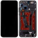 LCDCHASSIS-HONOR8XNOIR - Ecran complet assemblé sur chassis Honor 8X Vitre tactile + LCD coloris noir