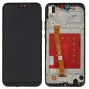 LCDCHASSIS-P20LITENOIR - Ecran Huawei P20 Lite Vitre tactile + LCD sur châssis coloris noir