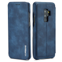 LCIMEE2-S9PLUSBLEU - Etui Galaxy S9+ LC-IMEEKE rétro-style coloris bleu
