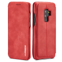 LCIMEE2-S9PLUSROUGE - Etui Galaxy S9+ LC-IMEEKE rétro-style coloris rouge