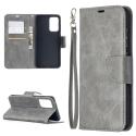 LCIMEEKE-A52GRIS - Etui Galaxy A52 LC-IMEEKE haut de gamme gris logements carte fonction stand