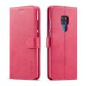 LCIMEEKE-M20FUSHIA - Etui Huawei Mate 20 LC-IMEEKE haut de gamme fushia logements carte fonction stand