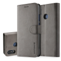 LCIMEEKE-P20LITEGRIS - Etui Huawei P20 Lite LC-IMEEKE haut de gamme gris logements carte fonction stand