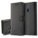 LCIMEEKE-P20LITENOIR - Etui Huawei P20 Lite LC-IMEEKE haut de gamme noir logements carte fonction stand