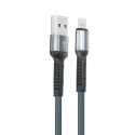 LDNIO-LS63LIGHTNING - Câble LDNIO USB renforcé noir vers prise iPhone Lightning