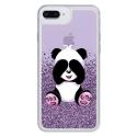 LIQUID-IP7PLUSPANDA - Coque souple avec strass et panda pour iPhone 7/8 Plus