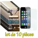 LOT-10FILMNEWPROIP5S - Lot de 10 films haute protection New Protech pour iPhone Se et 5s