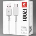 LTP-F7001USBCBLANC - Câble USB-C charge et synchro 1,2 mètres coloris blanc F7001 de LT-Plus