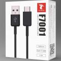 LTP-F7001USBCNOIR - Câble USB-C charge et synchro 1,2 mètres coloris noir F7001 de LT-Plus