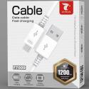 LTP-F7009MICROBLANC - Câble Micro-USB charge et synchro 1,2 mètres coloris blanc F7001 de LT-Plus