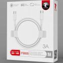 LTP-F9000USBC - Câble USB-C mâle-mâle charge et synchro 1,2 mètres coloris blanc F9000 de LT-Plus