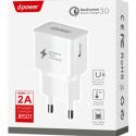 LTP-J8501-QC30BLANC - LT-Plus Chargeur secteur USB Quick-Charge 3.0 Qualcomm 2A coloris blanc